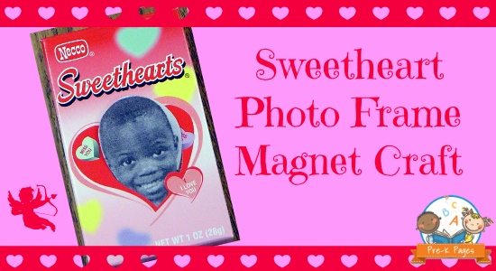 Valentine's Day Picture Frame Craft for Preschool and Kindergarten