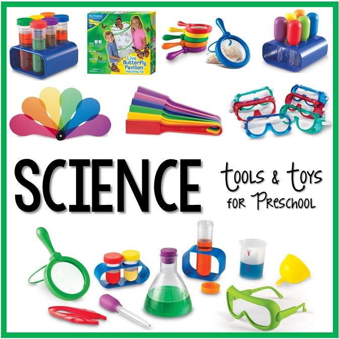 preschool science tools toys pre center classroom preschoolers kindergarten centers activities materials discovery labels writing children theme activity diy bin