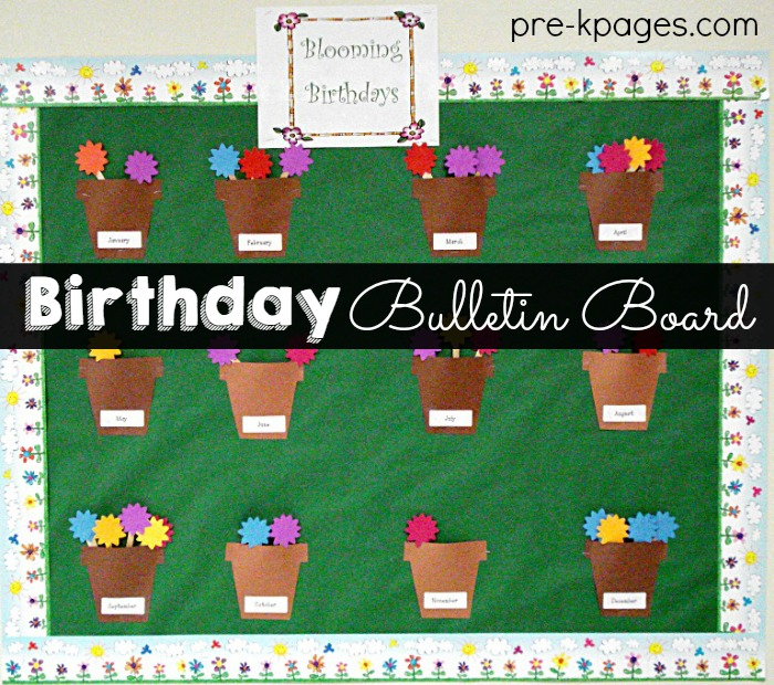 photograph about Birthday Bulletin Board Ideas Printable named Celebrating Pupil Birthdays inside of Preschool Pre-K and