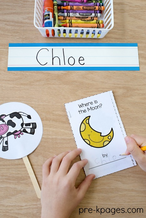 Hey Diddle Diddle Nursery Rhyme Printable Book