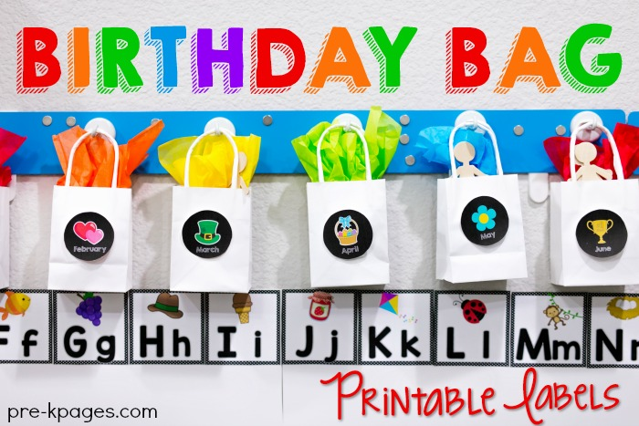 Ideas For Celebrating Birthdays In The Classroom With Birthday Bags