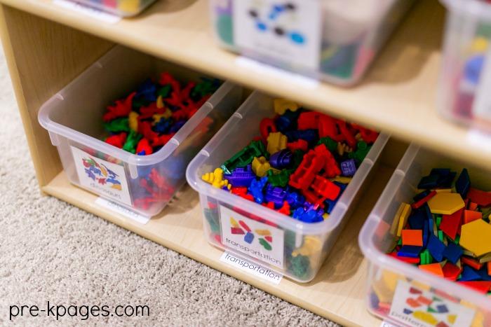 Preschool Math Center Set Up