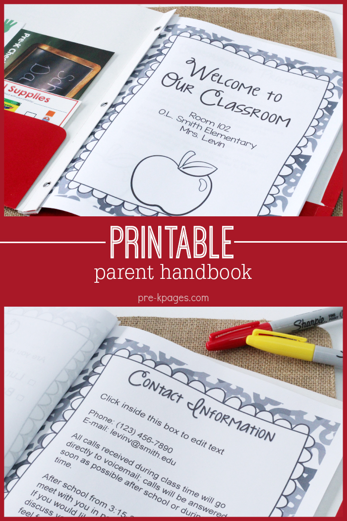 Printable Parent Handbook