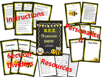 Printable Parent Communication Notebook: BEE theme