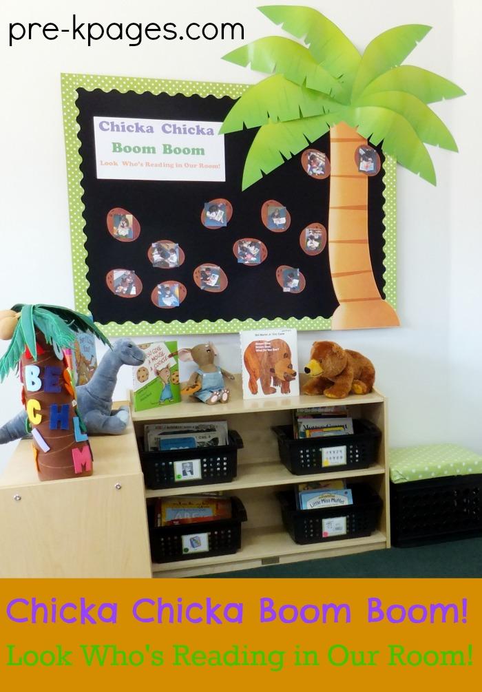 Chicka Boom Boom Bulletin Board for Classroom Library