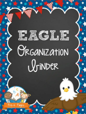 Eagle Parent Communication and Organizaation Binder for Preschool and Kindergarten