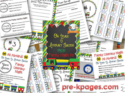 Family Literacy Night Printables for #preschool #kindergarten