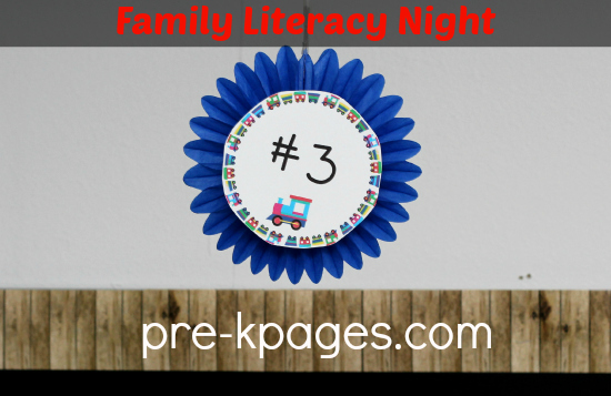 Family Literacy Night Station Sign #preschool #kindergarten