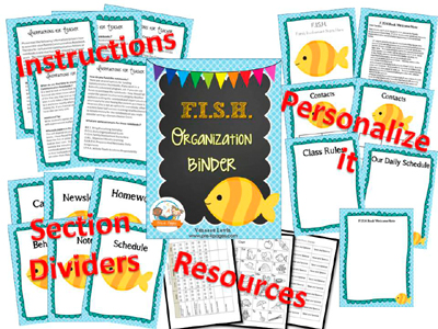 Printable Parent Communication Binder: FISH theme