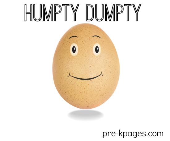Humpty Dumpty Theme Activities for Preschool and Kindergarten