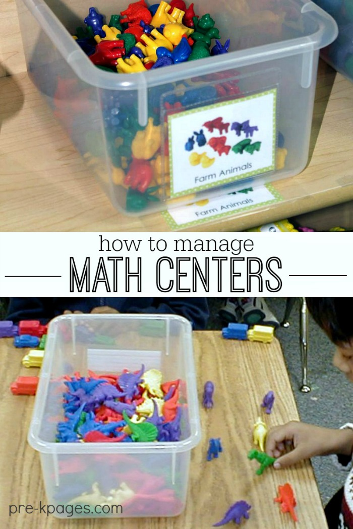 Managing Math Centers in Preschool