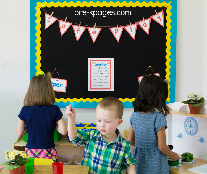 Preschool Pretend Play Center