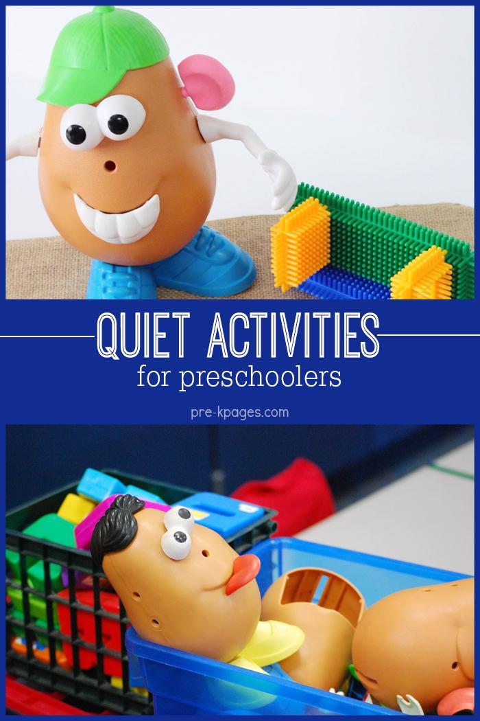 Quiet Center Activities for Preschoolers