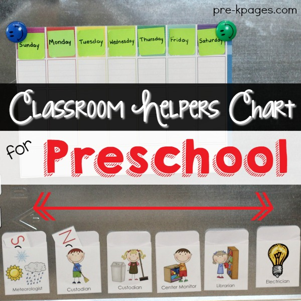 Classroom Helpers Chart For Preschool