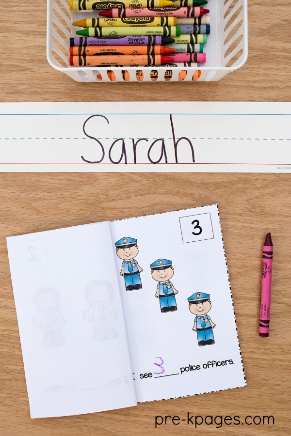 Community Helper Printable Number Counting Books