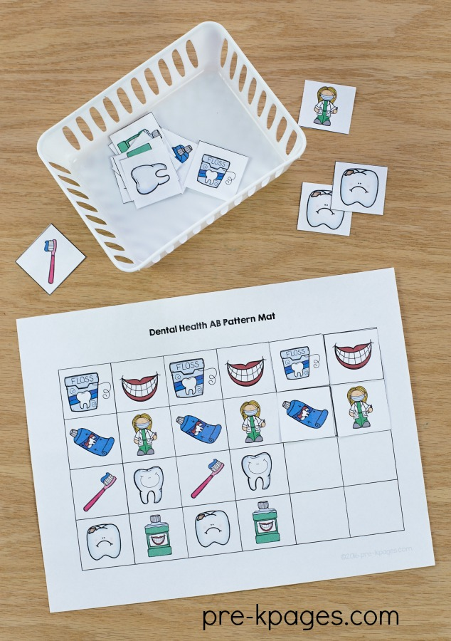 Dental Health Pattern Activity for Preschool