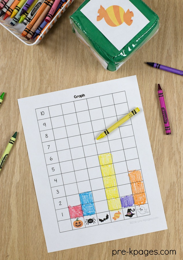 Halloween Theme Graphing Activity Printable for preschoolers