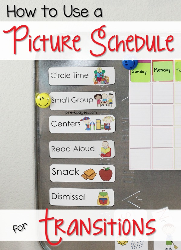 Picture Schedule Cards for Preschool and Kindergarten