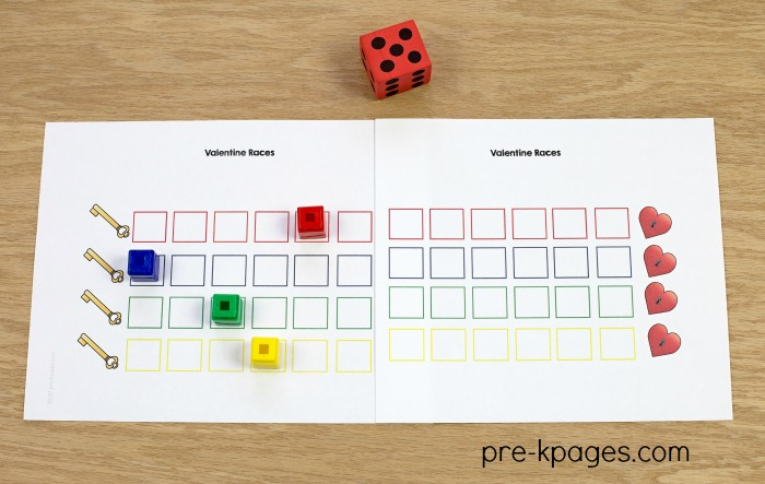 Printable Board Game for Valentines Day
