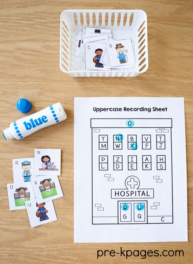 Printable Community Helper Alphabet Activity