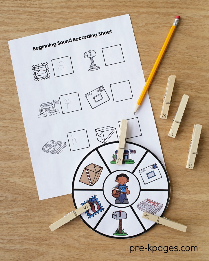 Printable Community Helper Beginning Sounds Activity
