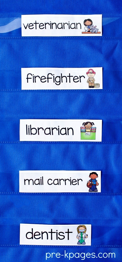 Printable Community Helper Word Cards