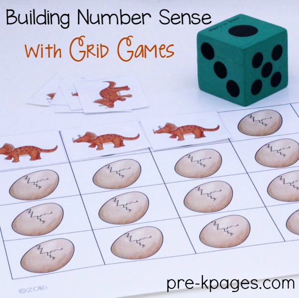 Printable Dinosaur Grid Game