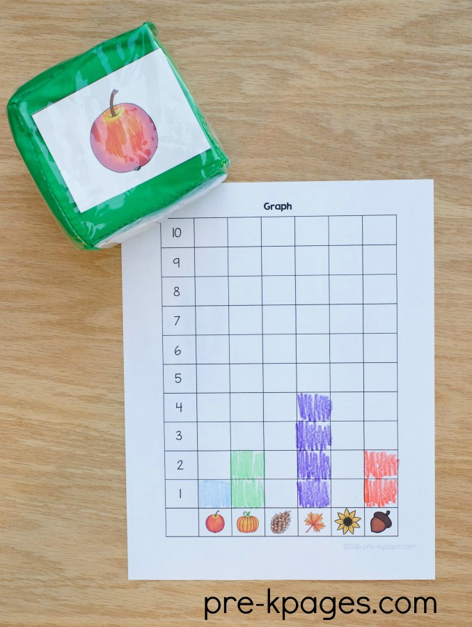 Printable Fall Graphing Activity for Preschool and Kindergarten