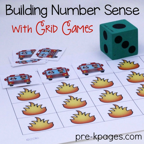 Printable Fire Truck Grid Game