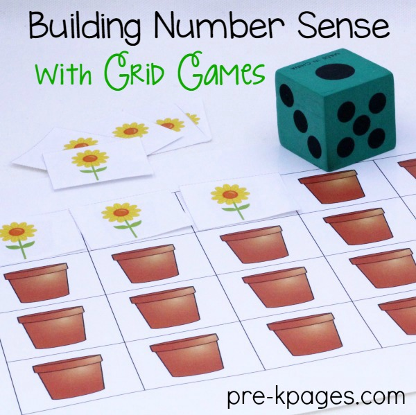 Printable Flower Grid Game
