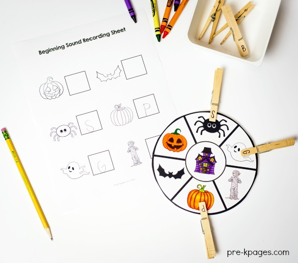 photo about Syllable Games Printable named Halloween Topic Pre-K Preschool Kindergarten