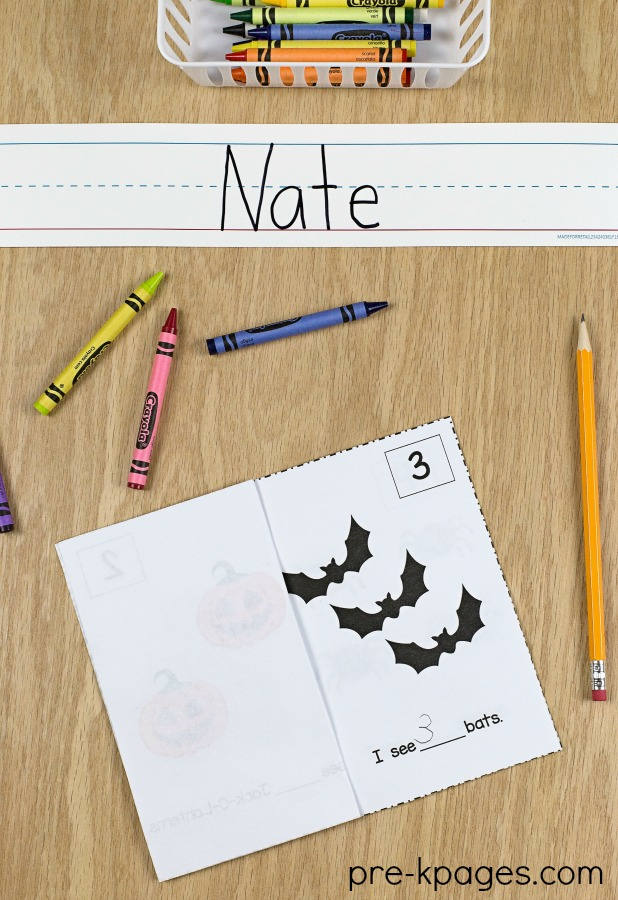 Printable Halloween Counting Book for Preschool