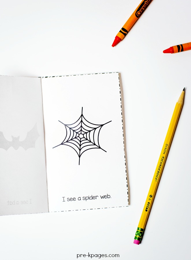 Printable Halloween Emergent Reader for Preschool and Kindergarten