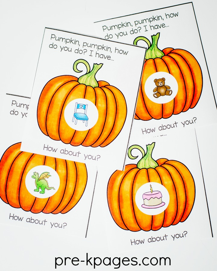 Printable Halloween Rhyming Game for Preschool and Kindergarten