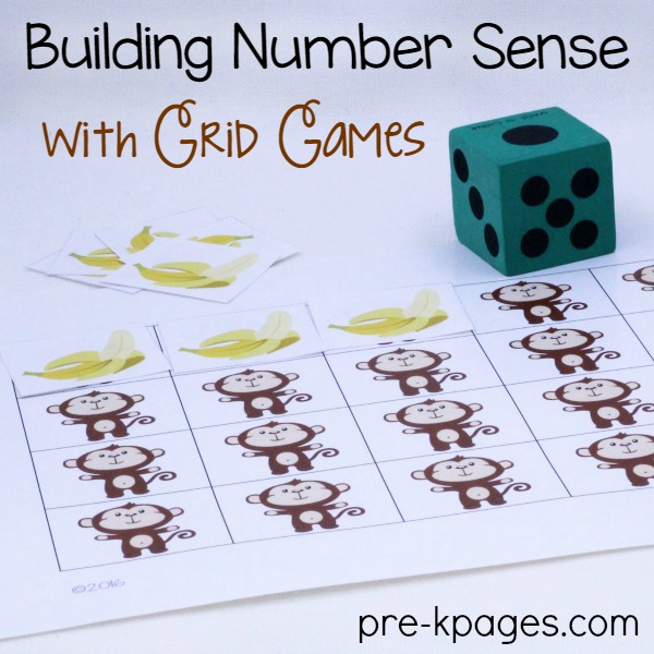 Printable Monkey Grid Game