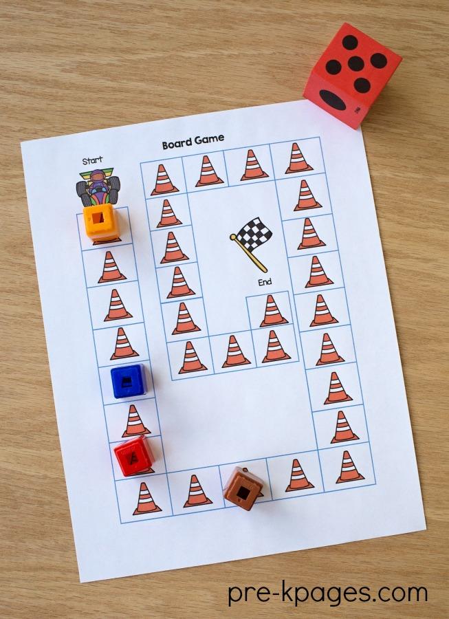 Jogo de Tabuleiro de Transporte Imprimível para Pré-escolar e Jardim de Infância