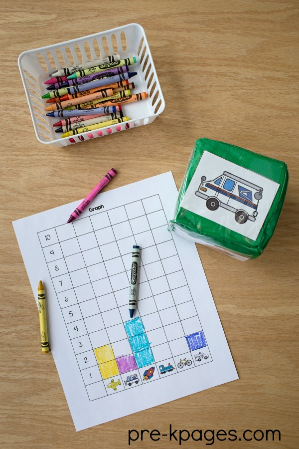 Printable Transportation Graphing Activity for Preschool and Kindergarten