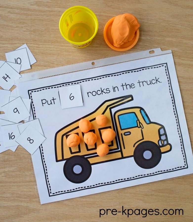 Trasporto stampabile Play Dough Mats for Preschool and Kindergarten