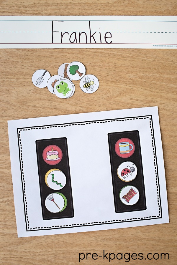 Printable Transportation Rhyming Game for Preschool and Kindergarten
