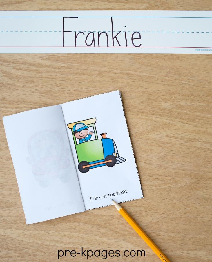 Leitor de Tema de Transporte Imprimível Emergente para Pré-Escolas e Jardins de Infância