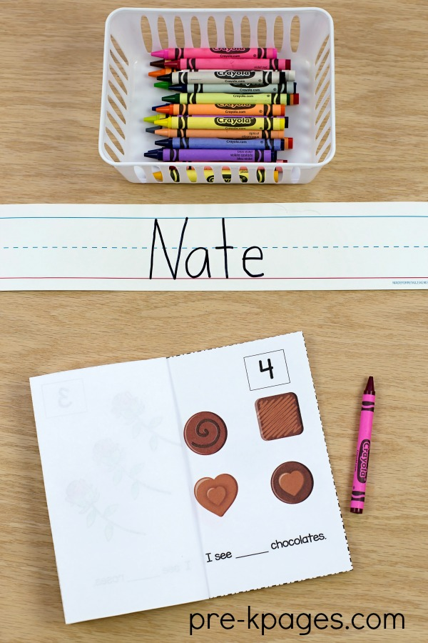 Printable Valentine Counting Book