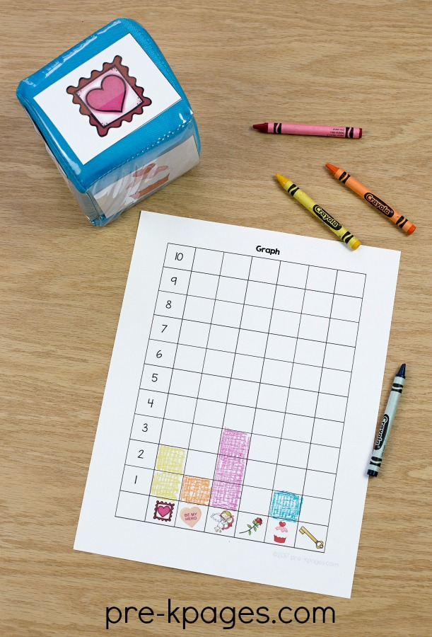 4053c9be95d Printable Valentine Graphing Activity for Preschool