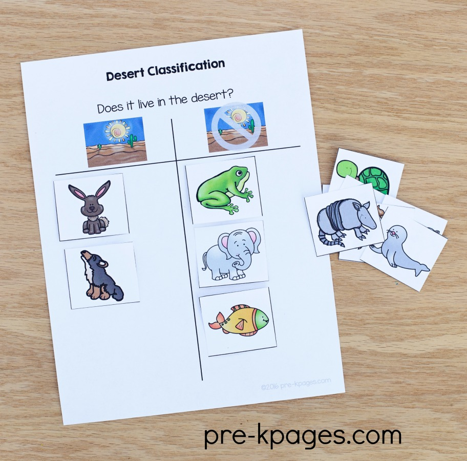 Printable Western Theme Classification Activity