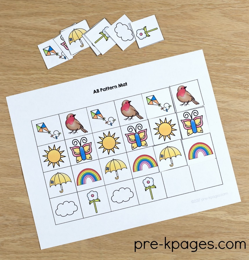 Spring Printable Patterns Activity