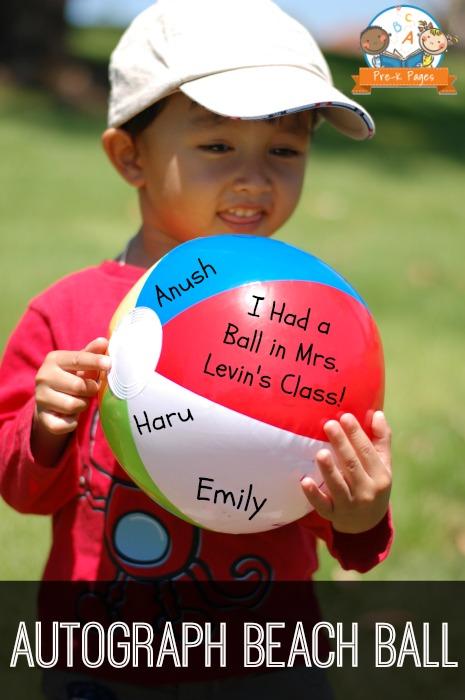 Autograph Beach Ball End of the Year Idea