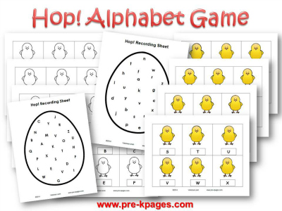 Easter Alphabet Identification Game #preschool #kindergarten
