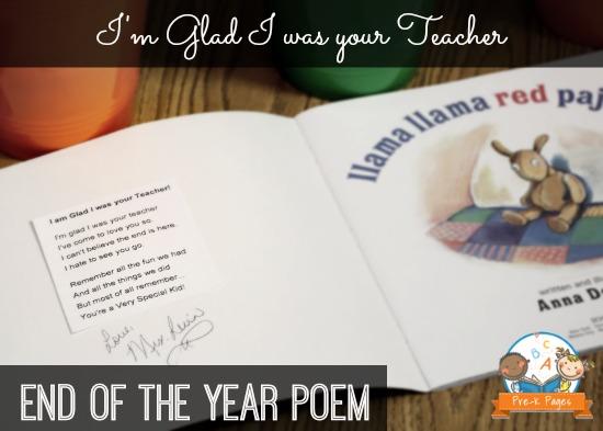 I'm Glad I was your Teacher Poem