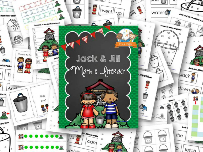 Jack and Jill Nursery Rhyme Printables for Preschool