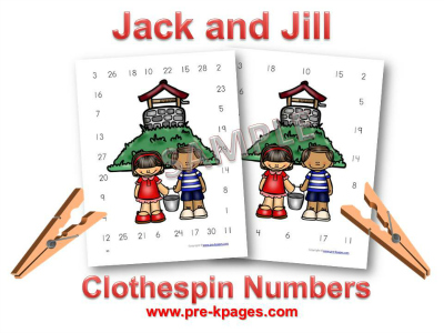 Jack and Jill Printable Number Identification Activity for Preschool