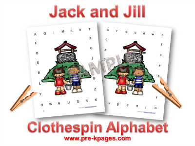 Jack and Jill Printable Alphabet Identification Activity